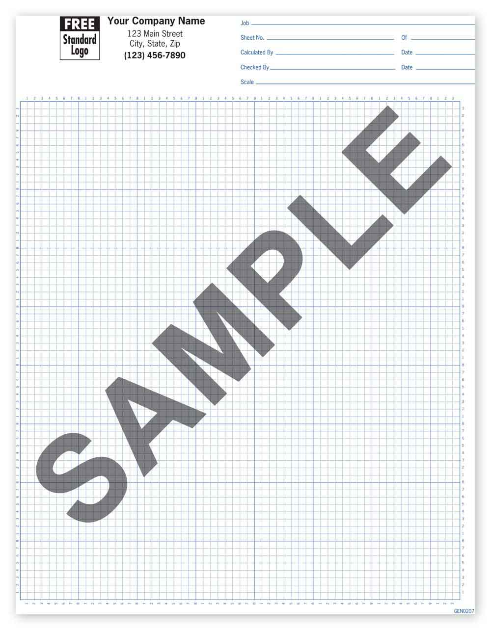 "Graph Paper Pad (Ruled 1/4"" or 1/8"") - Click Image to Close"