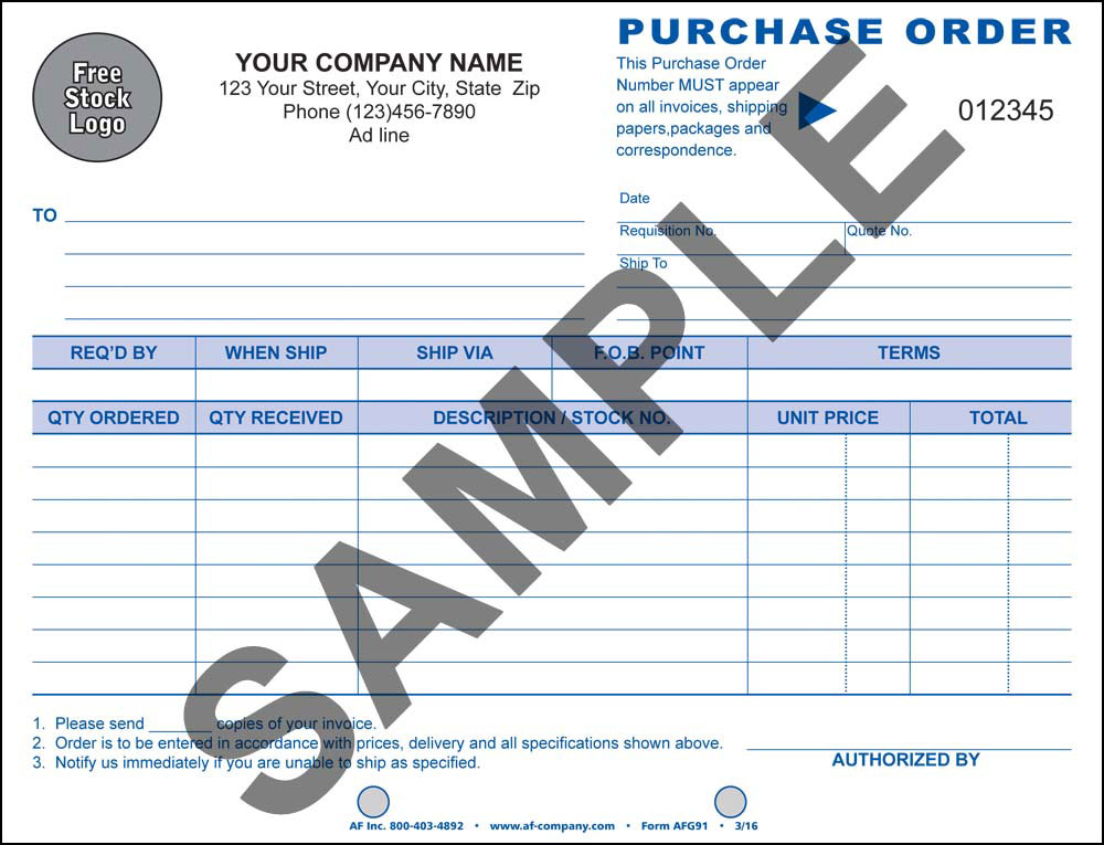 "Purchase Order 7"", 2 Copy - PERSONALIZED - Click Image to Close"