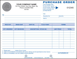 "Purchase Order 7"", 2 Copy - PERSONALIZED"